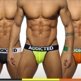 Addicted Pack 3 Jockstraps Light